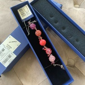 Swarovski Rhum Bracelet Coral Pink Tones Crystal